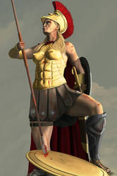 Penthesilea the Queen of the Amazons by Yadrey