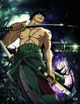Demon Cutter Zoro by MrReltOtaku