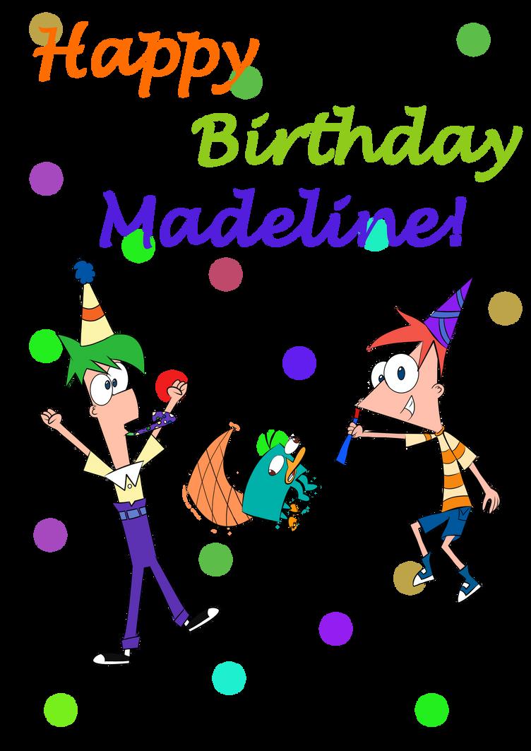 HAPPEH BIRTHDAY MADELINE!!! by DrawArtBleedman