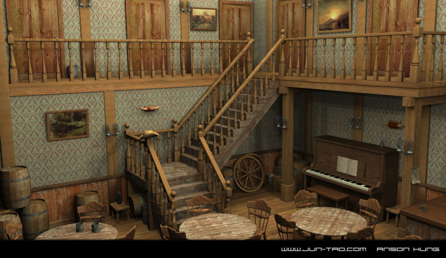 1870s Saloon by juntao