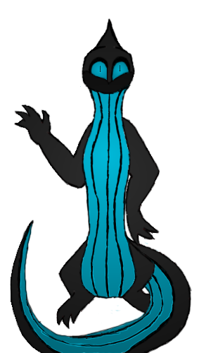 Anthro Skink (with lines) by Midnytnytmare90
