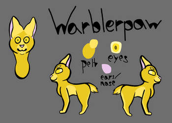 Warblerpaw ref (3/3 for SilviaTheWereArter) by Midnytnytmare90