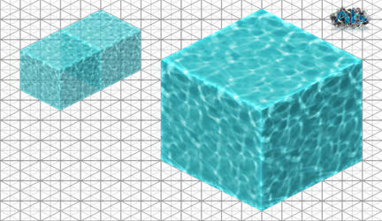 Water Texture 2D Isometric