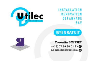 Logo + Visit Card UTILEC by ZewiSkaaz