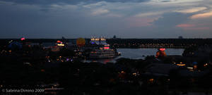 Downtown Disney by night