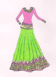 Ghagra Design1 by SheenMagic