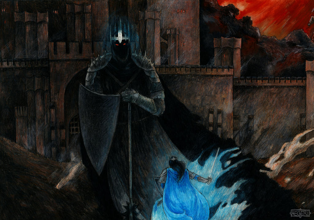 Fingolfin and Morgoth by aegeri