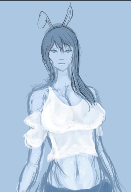 Blue Girl by Ura-min