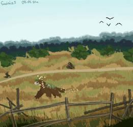 Wandering through the grass [esk art, gift, 2021]