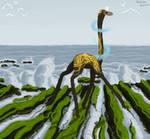 On the rocks of the shore [esk art, gift, 2021]