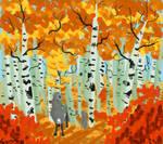 Between autumnal birches [esk art, gift, 2021]