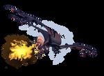 Fiery flight [YCH com, 2021]