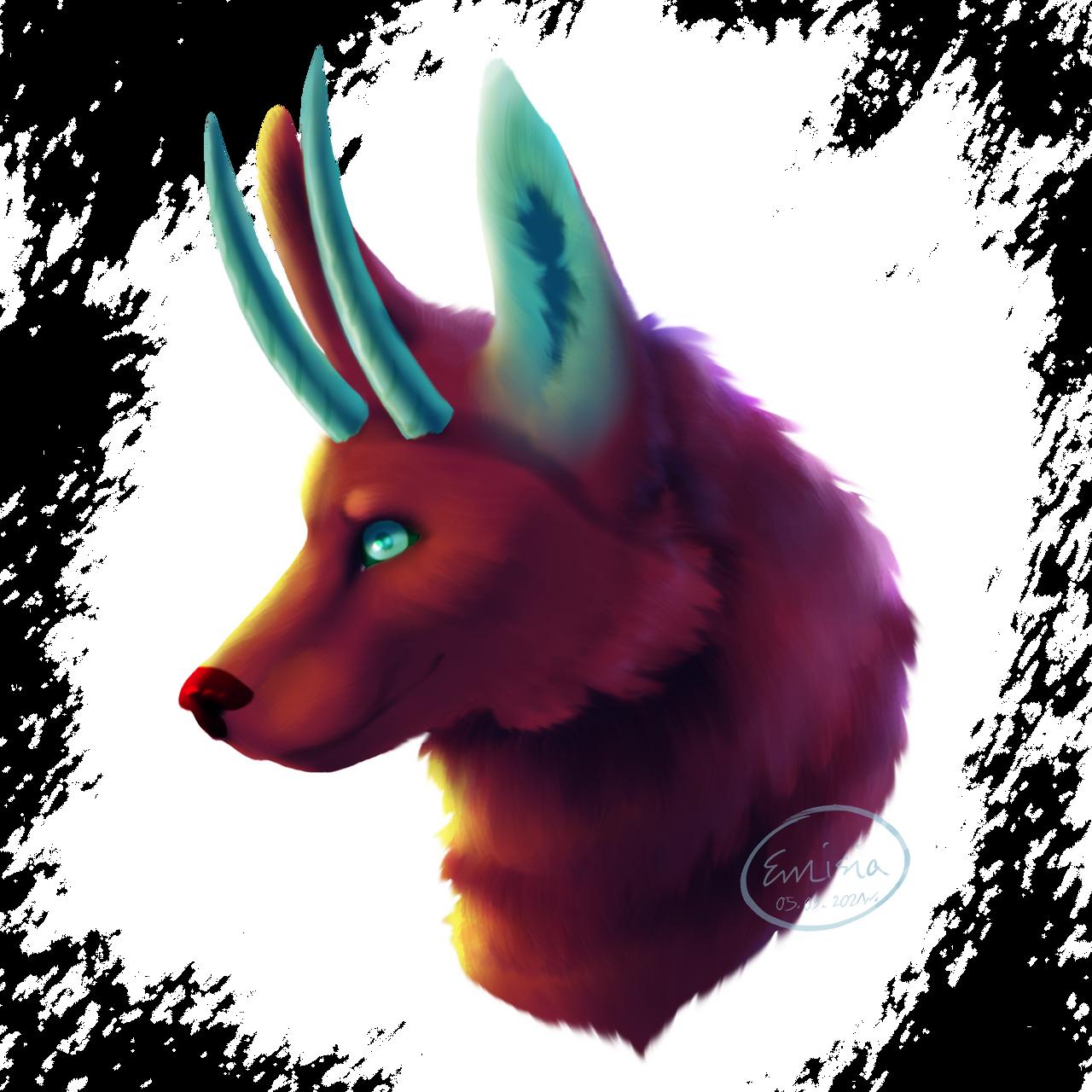 The purple wolf [arttrade, 2021]