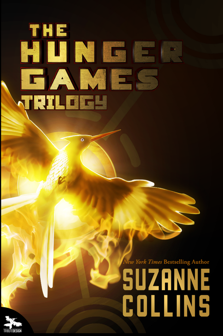 Book Cover Graphism Games : Hunger games trilogy fan made book cover by tributedesign