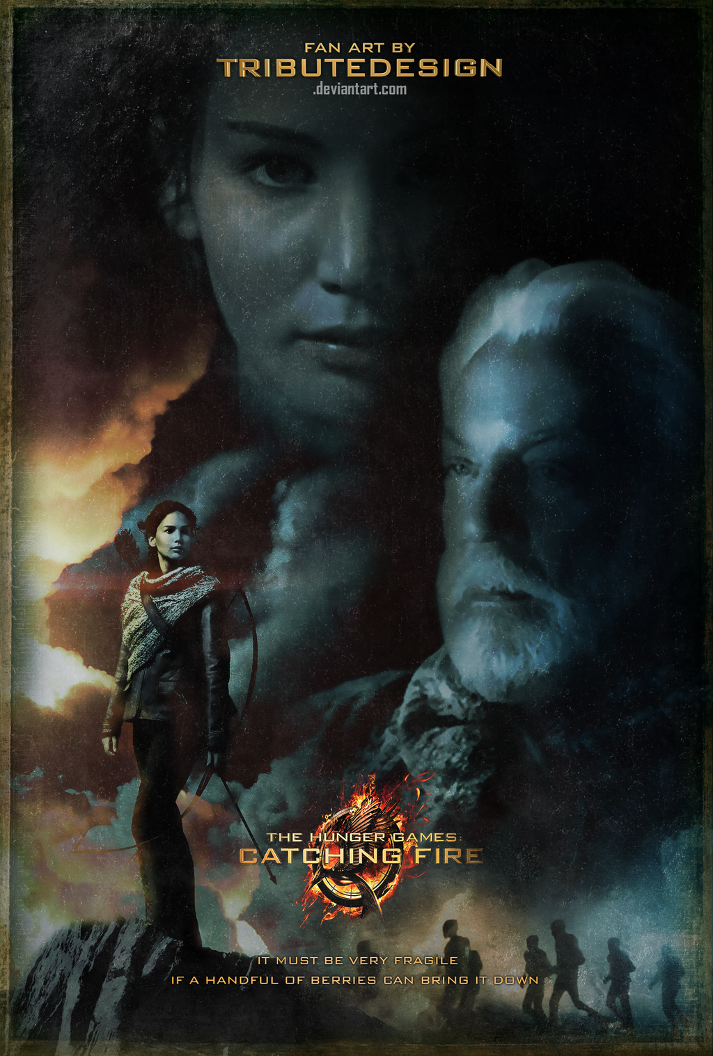 Catching Fire Poster - Very Fragile by TributeDesign