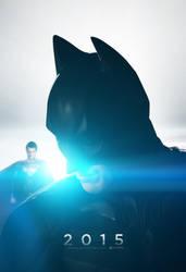 Batman VS Superman Poster 2 by TributeDesign