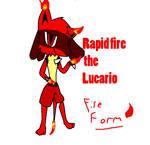 Razorfire the lucario-Fire