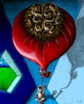 Luftballon gefaerbt