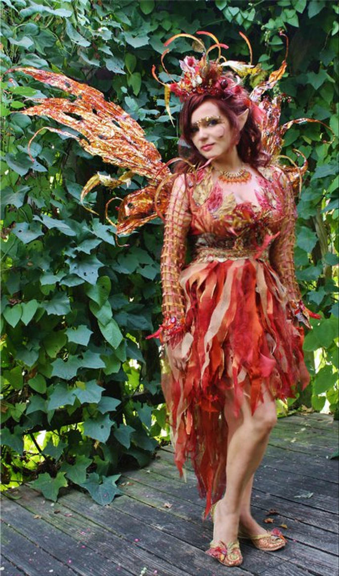 Fire Fairy Costume by desifairyWoodland Fairy Cosplay