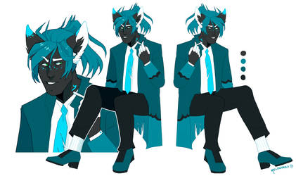 custom: big blue wolf