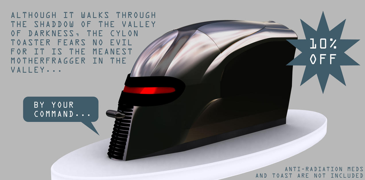 The first Cylon Toaster render by mannayta