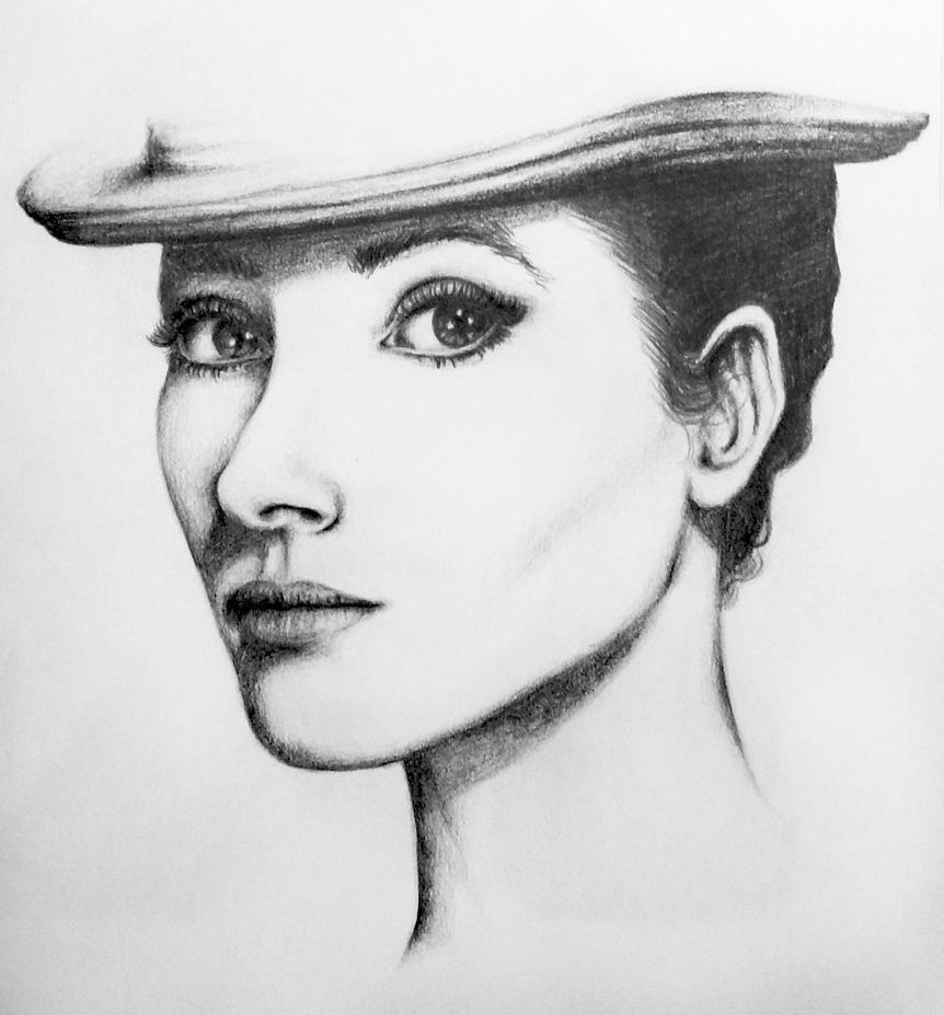 Audrey Hepburn by ve-pe