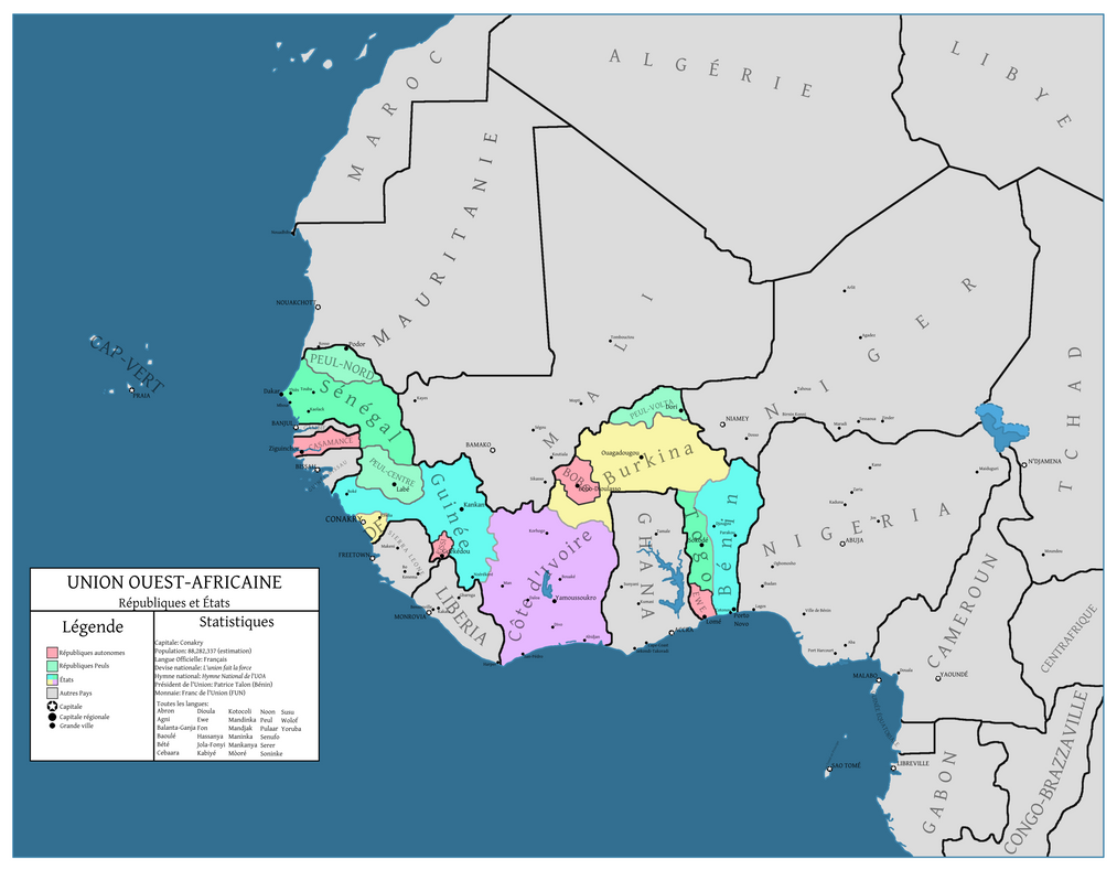 African Union Map.The West African Union By 92nd Cived On Deviantart