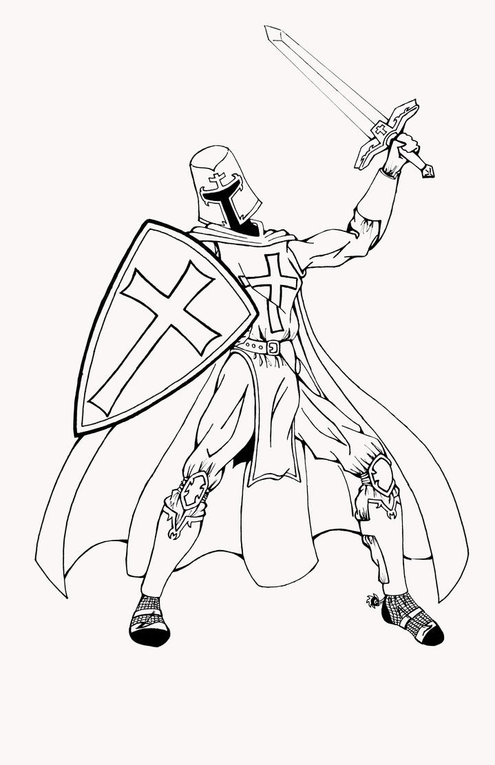 Knights templar free coloring pages for Coloring pages knights