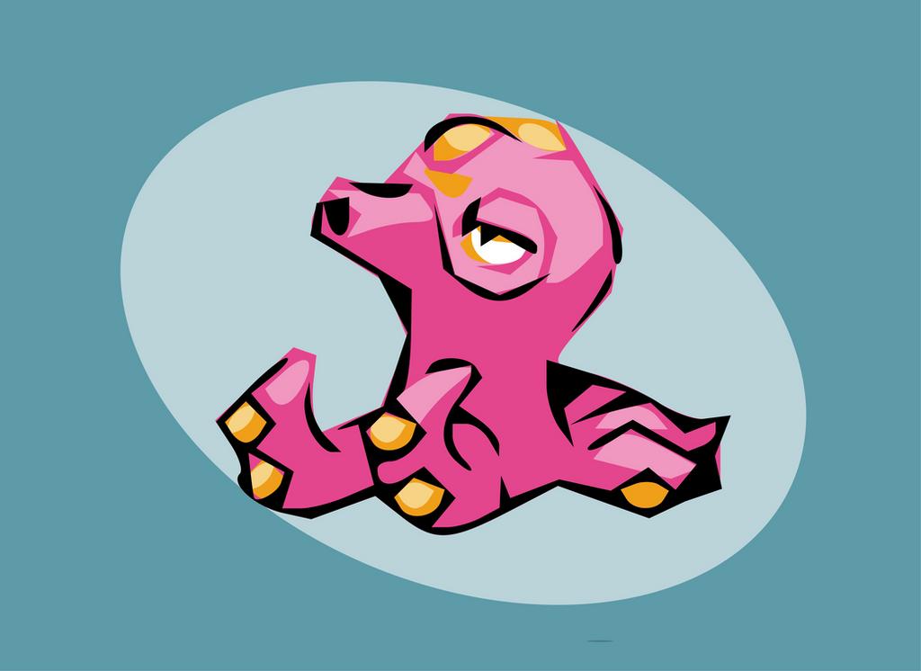 Pink Octillery by Cuccoteaser