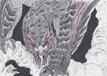 The Dark One: Frenzied Nargacuga by MatrixDragondavid