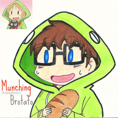 MunchingBrotato- Nichijou Crossover by xhappybearx