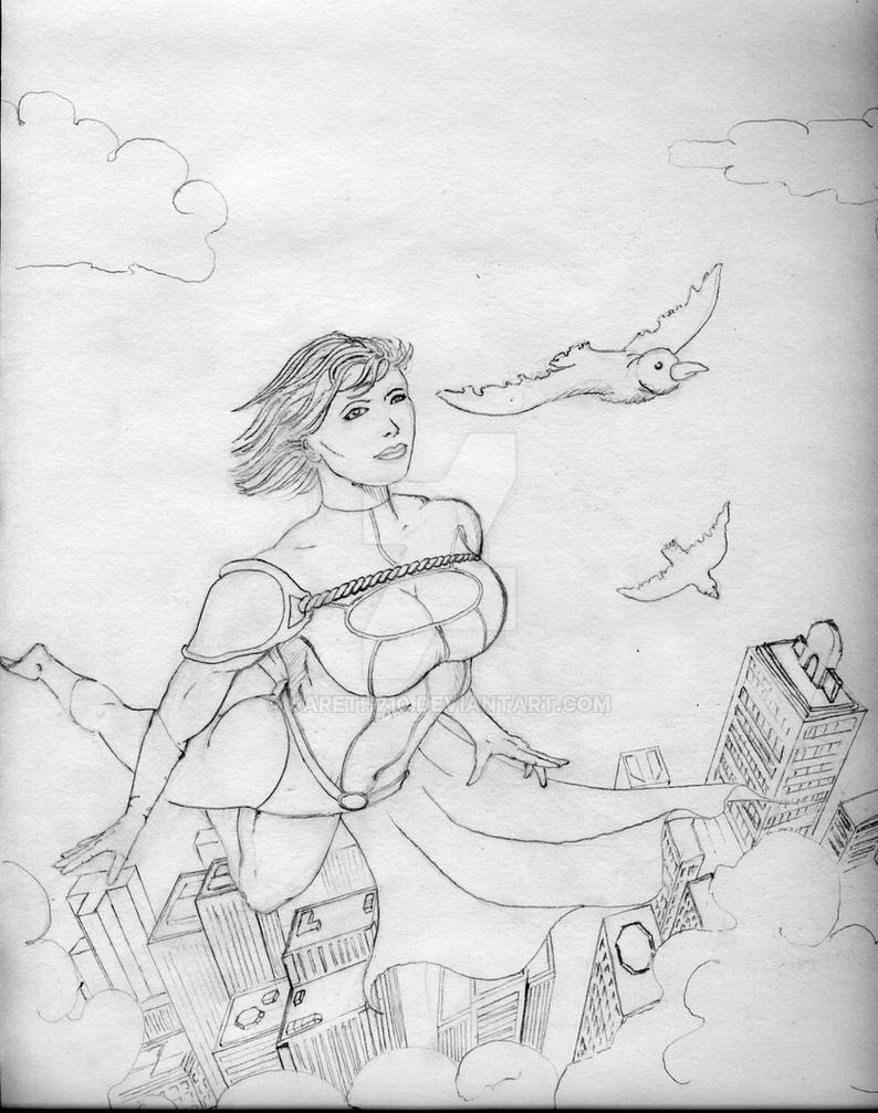 Powergirl by Jareth210