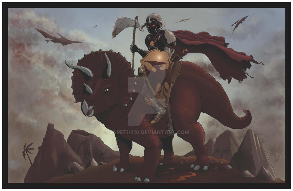 2016-03-20 - Dinosaur Warriors - Triceratops by Jareth210
