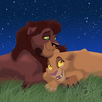 'nother Kovu and Kiara pic by melted-gummy-bears