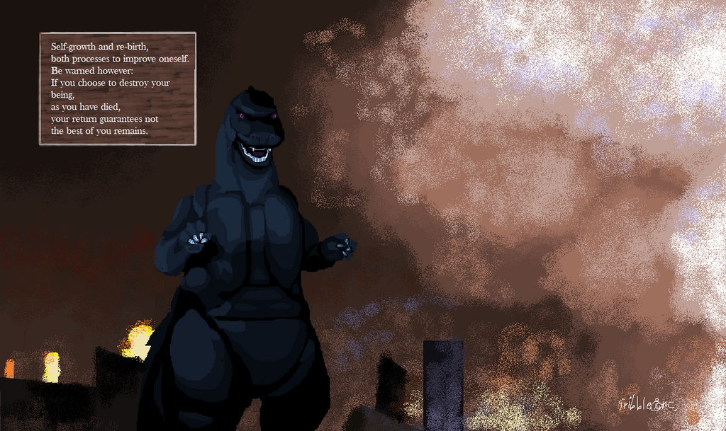 Farewell MS Paint: Godzilla Version by sribbleinc