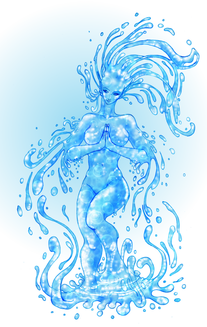 Water Elemental by pUmpkinhead666