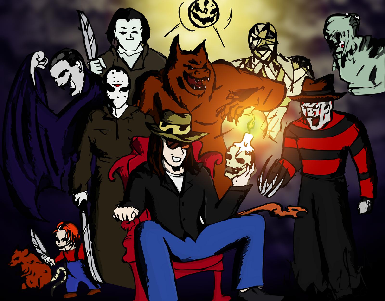 Dross y personajes de terror by tansolofrikis