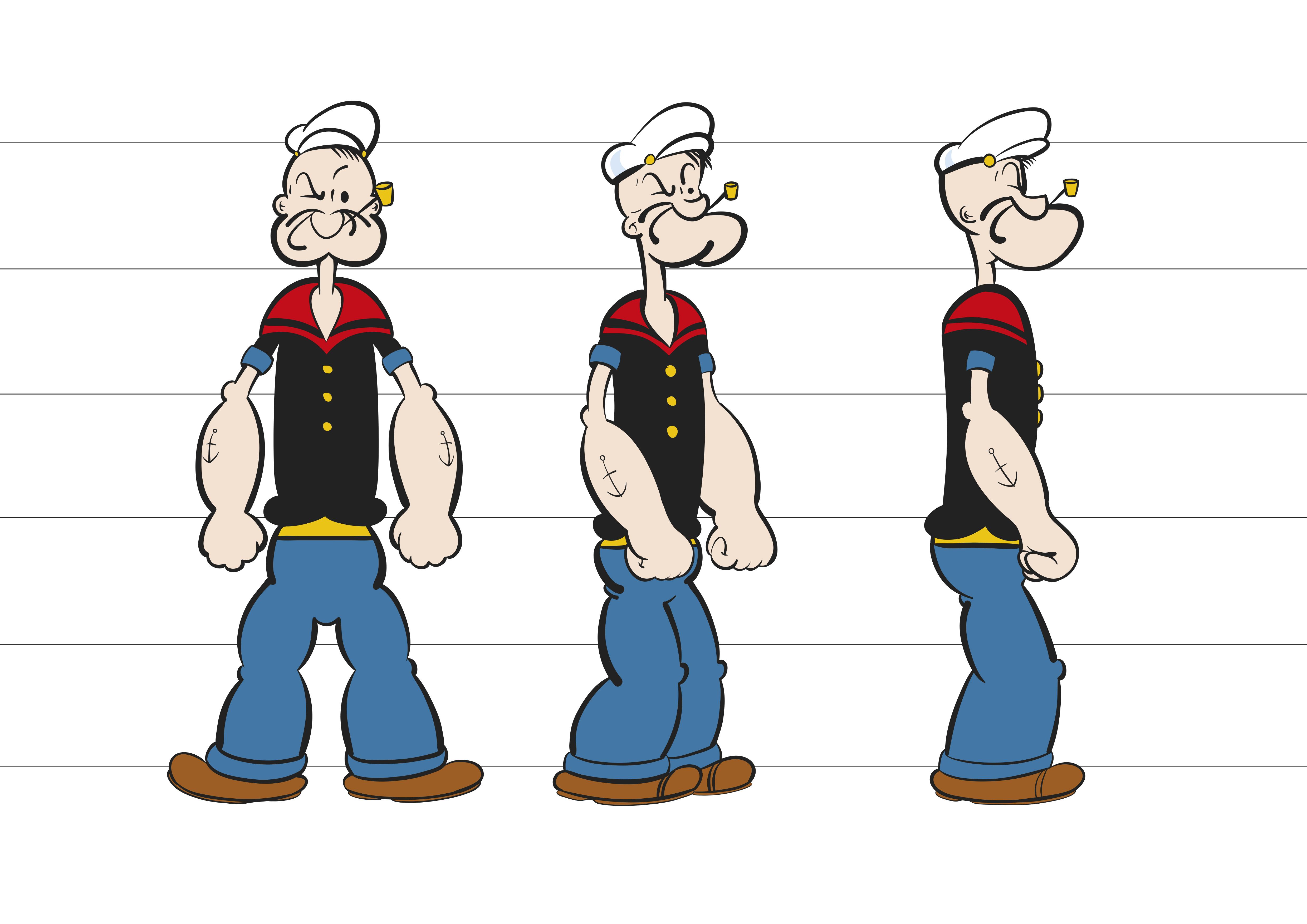Olive Oyl And Popeye Movie popeye modelsheet by D...