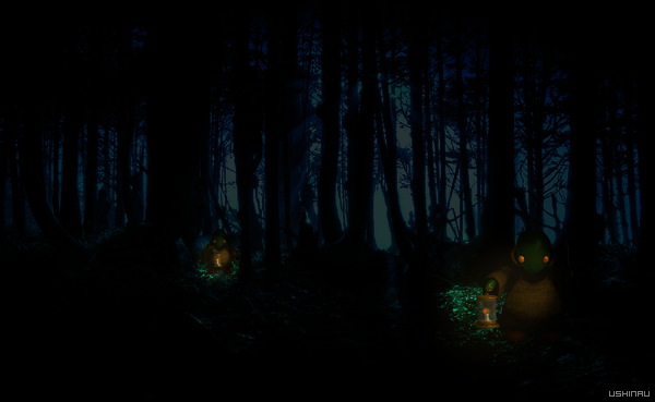 Tomberry dans la nuit by Ushinau