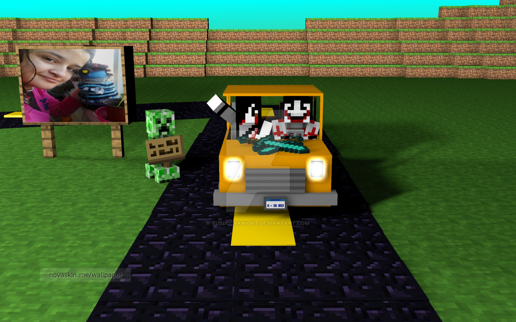 novaskin minecraft wallpaper me and jeff by rubeccaknight