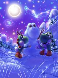 Commission: Frozen Paradise by JA-punkster