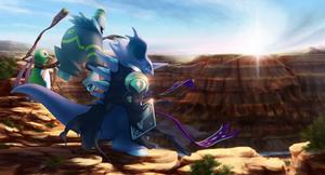 Commission: Three Guardians by JA-punkster