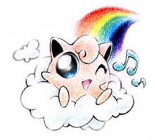 Jigglypuff on a cloud by JA-punkster