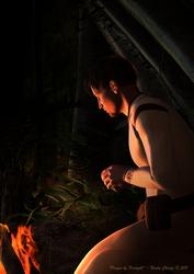 Prayer by Firelight
