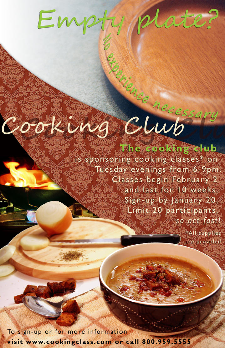 Cooking Club Poster By Cracker Jax