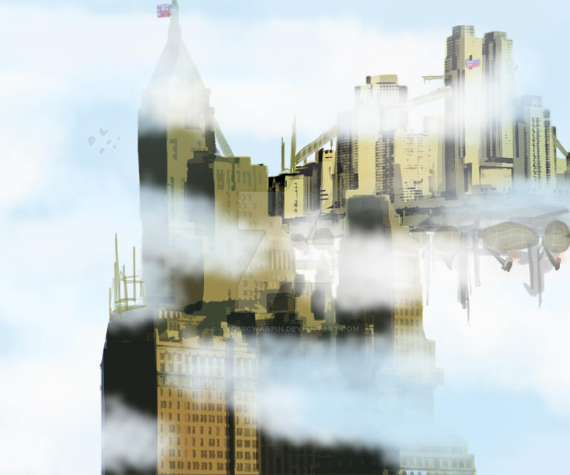 Columbia city in the sky by AtomicWarpin