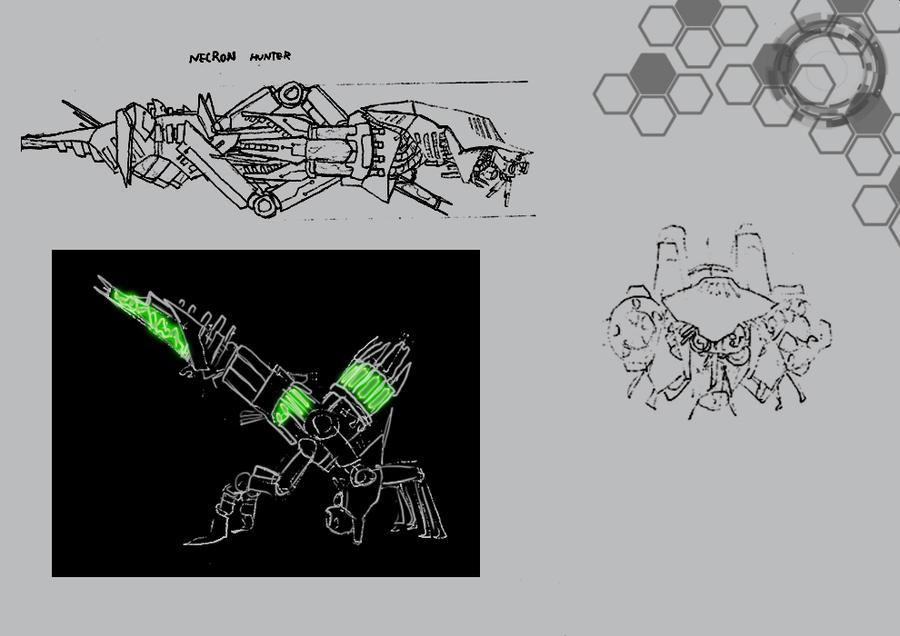 Necron Hunter drone by AtomicWarpin
