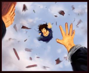Bioshock infinite: Elizabeth falls. by AtomicWarpin