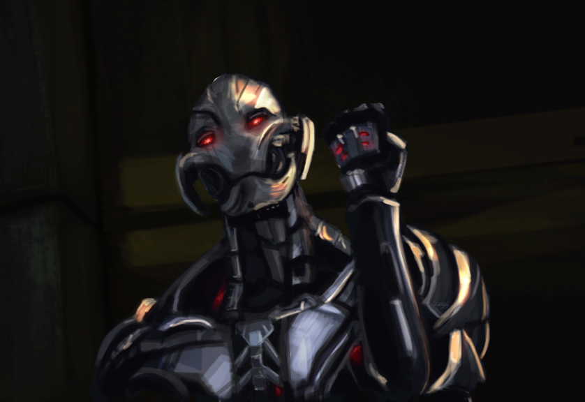 Ultron, in the flesh. by AtomicWarpin