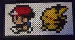 Pokemon sprite hama bead by SewManyTeddies